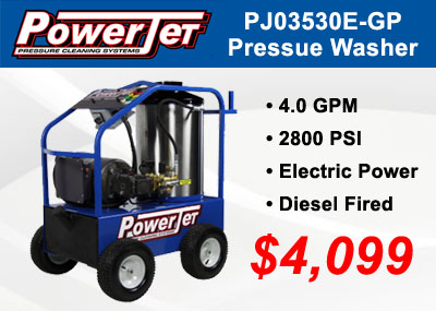 Proud to Carry a New Line of PowerJet Pressure Washers