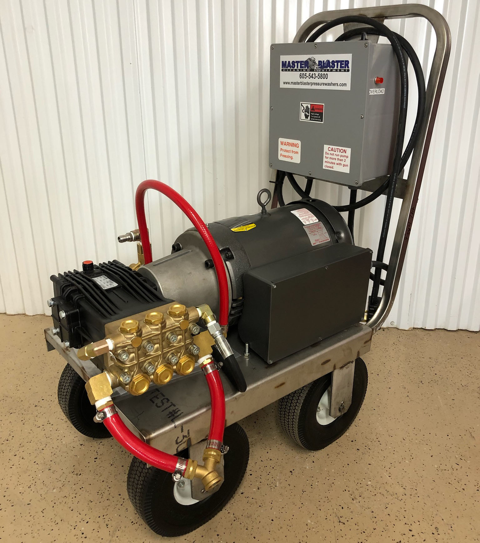 8 GPM | 1800 PSI | Electric Cold Water Pressure Washer | MB